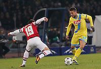 Dries Mertens   durante l'incontro di calcio di Champions Leahue  Napoli Arsenal allo  Stadio San Paolo  di Napoli , 13 Dicembre  2013<br /> Foto Ciro De Luca