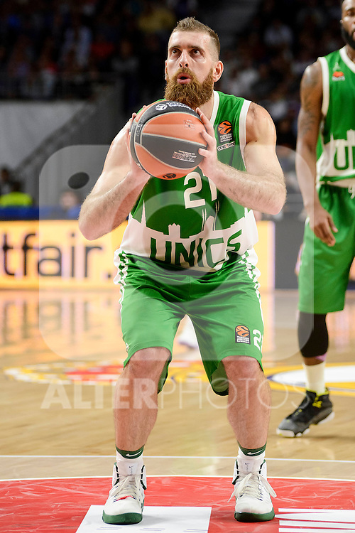 Unics Kazan's player Kostas Kaimakoglou during match of Turkish Airlines Euroleague at Barclaycard Center in Madrid. November 24, Spain. 2016. (ALTERPHOTOS/BorjaB.Hojas)
