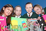 Pupils from Firies National School who have reached the finals of Our World Childrens Media Awards, which will be held in Dublin during the Spring..L-r: Sara Affonso, Niamh Gleeson, Sinead Hoctor and Gemma OMahony.