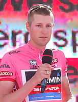 Canadian cycling Ryder Hesjedal         of the Garmin Sharp    Team  attends his team's presentation for the 96th Giro d'Italia cycling tour at Piazza del Plebiscito in Naples                                                                                                             NAPOLI 03/05/2013 PRESENTAZIONE DEI CORRIDORI DEL 96° GIRO D'ITALIA.NELLA FOTO .FOTO CIRO DE LUCA