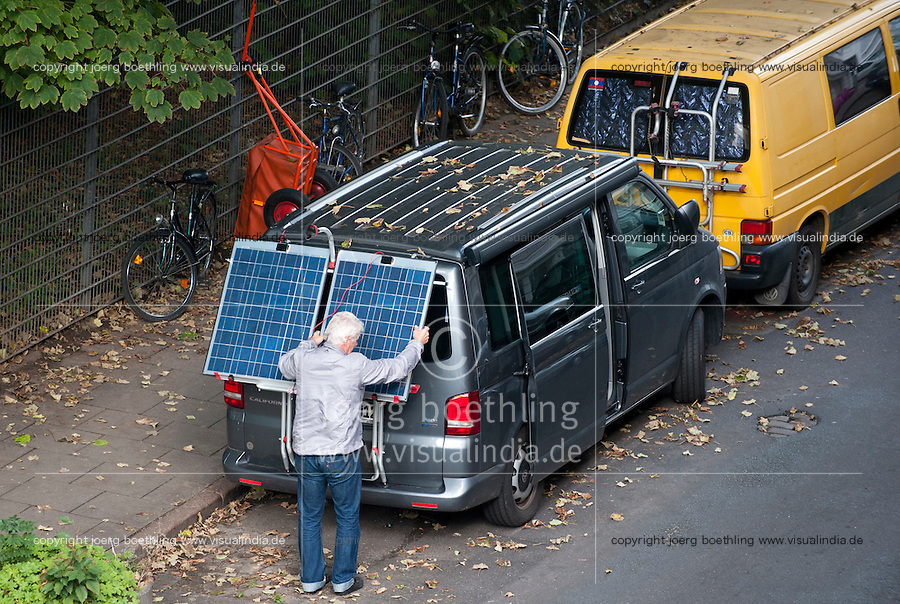 GERMANY solar panel on VW bus