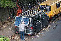 GERMANY solar panel on VW bus