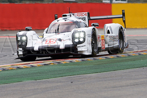 02.05.2015.  Spa-Francorchamps, Belgium. World Endurance Championship Round 2. Porsche Team LMP1 Hybrid Porsche 919 driven by Nico Hulkenberg, Earl Bamber and Nick Tandy.
