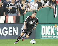 Santino Quaranta #25 of D.C. United moves forward during an MLS match against the New England Revolution on April 3 2010, at RFK Stadium in Washington D.C.