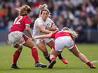 England Women's Vicky Fleetwood  in action during todays match<br /> <br /> Photographer Bob Bradford/CameraSport<br /> <br /> 2020 Women's Six Nations Championship - England v Wales - Saturday 7th March 2020 - The Stoop - London<br /> <br /> World Copyright © 2020 CameraSport. All rights reserved. 43 Linden Ave. Countesthorpe. Leicester. England. LE8 5PG - Tel: +44 (0) 116 277 4147 - admin@camerasport.com - www.camerasport.com