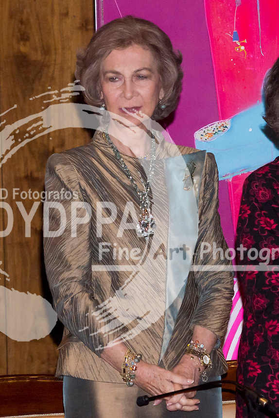 06.11.2012. National Auditorium of Music. Madrid. Spain The queen Sofia of Spain and her sister Irene of Greece preside delivery Prize XXVII BMW paint and the benefit concert world in harmony. In the picture: Queen Sofia of Spain. (C) Ivan G. Naughty / DyD Fotografos