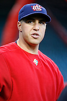 Mark Teixeira of the USA during the World Baseball Championships at Angel Stadium in Anaheim,California on March 13, 2006. Photo by Larry Goren/Four Seam Images