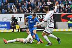 10.03.2019, Prezero-Arena, Sinsheim, GER, 1 FBL, TSG 1899 Hoffenheim vs 1. FC Nuernberg, <br /> <br /> DFL REGULATIONS PROHIBIT ANY USE OF PHOTOGRAPHS AS IMAGE SEQUENCES AND/OR QUASI-VIDEO.<br /> <br /> im Bild: Umstrittener Zweikampf zwischen Ewerton (#4, 1. FC Nuernberg) und Andrej Kramaric (TSG Hoffenheim #27), Schiedsrichter Christian Dingert gibt zuerst Strafstoss, nimmt ihn nach Videobeweis aber wieder zurueck<br /> <br /> Foto &copy; nordphoto / Fabisch