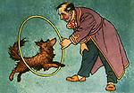 """Anton Chekhov """"Kashtanka""""Book illustration, 1954"""