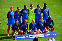 Harrison, N.J. - Sunday March 04, 2018: France starting eleven during a 2018 SheBelieves Cup match between the women's national teams of the United States (USA) and France (FRA) at Red Bull Arena.