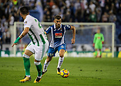 30th October 2017, Cornella-El Prat, Cornella de Llobregat, Barcelona, Spain; La Liga football, Espanyol versus Real Betis; Leo Baptistao of Espanyol breaking forward
