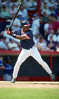 Cleveland Indians Albert Belle (8) during Spring Training 1992 at Chain of Lakes Park in Winter Haven, Florida.  (MJA/Four Seam Images)