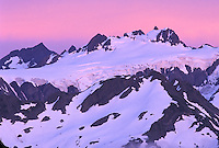 Mount Olympus at sunset, Olympic National Park, Washington