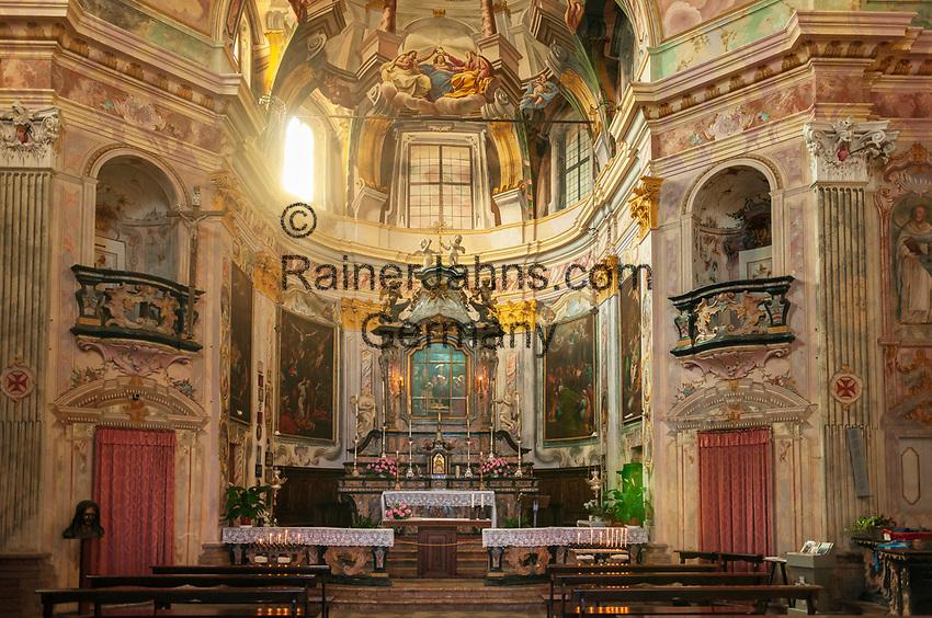 Italy, Piedmont, Madonna del Sasso: pilgrimagae church Madonna del Sasso - altar   Italien, Piemont, Madonna del Sasso: Wallfahrtskirche der Madonna del Sasso (im Ortsteil Boleto) - Altar