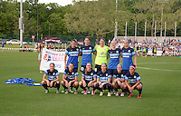 Kansas City, MO - Saturday May 07, 2016: FC Kansas City starters pose for a photo  prior to playing the Houston Dash during a regular season National Women's Soccer League (NWSL) match at Swope Soccer Village. Houston won 2-1.