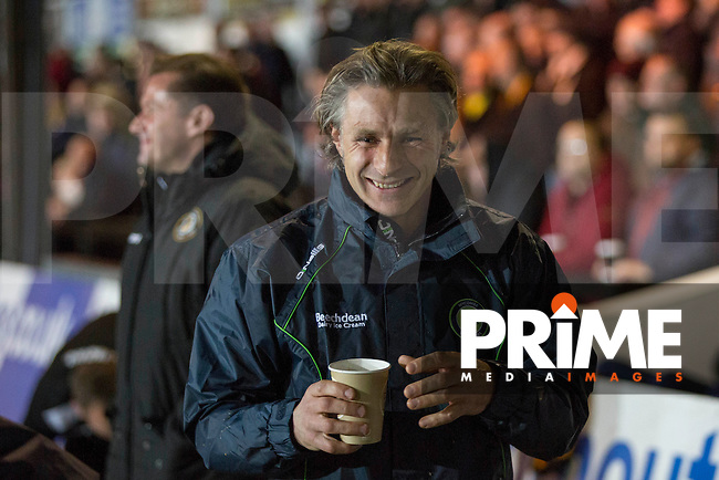 Wycombe manager Gareth Ainsworth ahead of the Sky Bet League 2 match between Newport County and Wycombe Wanderers at Rodney Parade, Newport, Wales on 22 November 2016. Photo by Mark  Hawkins.