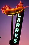 Larry's Chili Dog neon sign in Burbank, CA circa 1989