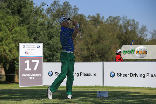 Playing in the shadows is Ulrich Van Den Berg (RSA) during the completion of Round Two of the 2016 BMW SA Open hosted by City of Ekurhuleni, played at the Glendower Golf Club, Gauteng, Johannesburg, South Africa.  09/01/2016. Picture: Golffile | David Lloyd<br /> <br /> All photos usage must carry mandatory copyright credit (&copy; Golffile | David Lloyd)