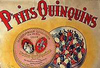 """Europe/France/Nord Pas-de-Calais/59/Nord/Lille: Détail Affiche Confiserie """"Les Petits Quinquins"""" à l'Estaminet """"T. Rijsel"""" 25 rue de Gand"""
