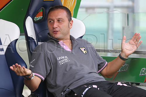 25.09.2011 Rome Italy.   MANGIA Palermo coach during the Serie A match between S.S. Lazio and Palermo, played in the Stadio Olimpico Rome.