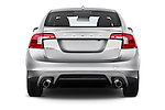 Straight rear view of 2018 Volvo S60 R-Design 4 Door Sedan Rear View  stock images