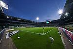 Das wohninvest Weserstadion unter Flutlicht in der Totale während der zweiten Halbzeit, hier aufgenommen aus der Ecke Nord/Ost<br /> <br /> Sport: Fussball: 1. Bundesliga: Saison 19/20: <br /> 26. Spieltag: SV Werder Bremen vs Bayer 04 Leverkusen, 18.05.2020<br /> <br /> Foto ©  gumzmedia / Nordphoto / Andreas Gumz / POOL <br /> <br /> Nur für journalistische Zwecke! Only for editorial use!<br />  DFL regulations prohibit any use of photographs as image sequences and/or quasi-video.