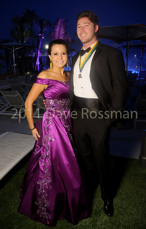 """Katelyn Ellis and Austin Parker at the San Luis Salute """"Hollywood Dinner Club"""" in Galveston Friday Feb. 09,2018. (Dave Rossman Photo)"""