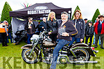 Paul Lynch who Harley Davidson bike won a prize at Bikefest in Killarney on Sunday with Brettany Engerton and Hollly Richardson