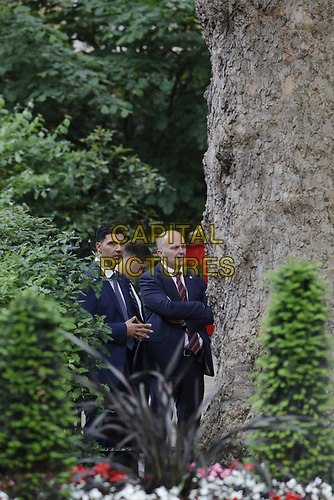LONDON, ENGLAND - JUNE 04: Secret Service security outside in 10 Downing Street, during the second day of Trump State Visit on June 4, 2019 in London, England. <br /> CAP/GOL<br /> ©GOL/Capital Pictures