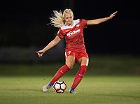 Boyds, MD - Saturday May 20, 2017: Line Sigvardsen Jensen during a regular season National Women's Soccer League (NWSL) match between the Washington Spirit and FC Kansas City at Maureen Hendricks Field, Maryland SoccerPlex.
