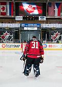 Dawson Creek, BC - Dec 12 2019: Game 8 - Canada West vs. Czech Republic at the 2019 World Junior A Championship at the ENCANA Event Centre in Dawson Creek, British Columbia, Canada. (Photo by Matthew Murnaghan/Hockey Canada)