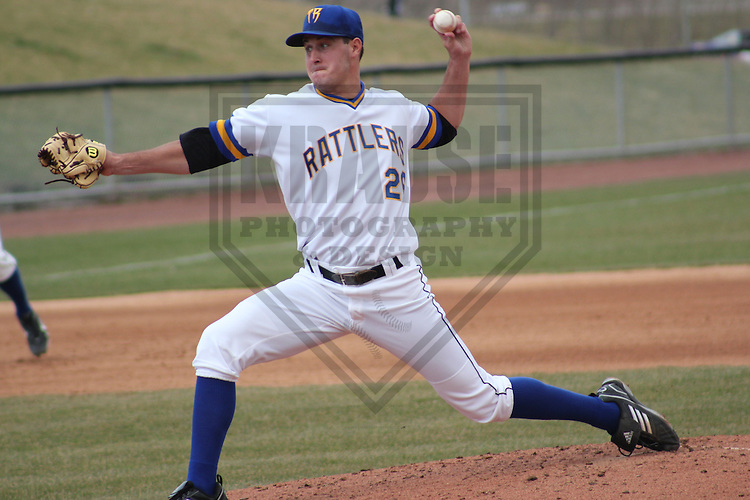 APPLETON - APRIL 2011: Del Howell (26) of the Wisconsin Timber Rattlers, Class-A affiliate of the Milwaukee Brewers, during a game on April 10, 2011 at Fox Cities Stadium in Appleton, Wisconsin. (Photo by Brad Krause) ....