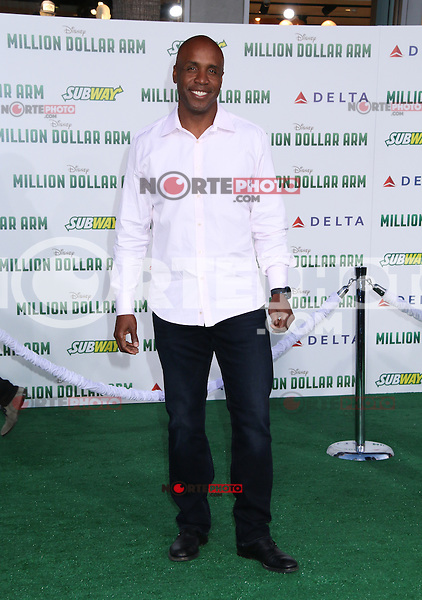 HOLLYWOOD, CA - MAY 6:  Barry Bonds at the Premiere Of Disney's 'Million Dollar Arm'  on May 6, 2014 at El Capitan Theatre in Hollywood, California. Credit: SP1/Starlitepics /nortephoto.com