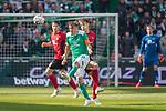 13.04.2019, Weser Stadion, Bremen, GER, 1.FBL, Werder Bremen vs SC Freiburg, <br /> <br /> DFL REGULATIONS PROHIBIT ANY USE OF PHOTOGRAPHS AS IMAGE SEQUENCES AND/OR QUASI-VIDEO.<br /> <br />  im Bild<br /> <br /> Max Kruse (Werder Bremen #10)<br /> Nico Schlotterbeck (SC Freiburg #49)<br /> <br /> Foto © nordphoto / Kokenge