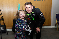 Pictured: Declan John of Swansea City during the Swansea City Christmas part at the Liberty Stadium in Swansea, Wales, UK. Thursday 05 December 2019