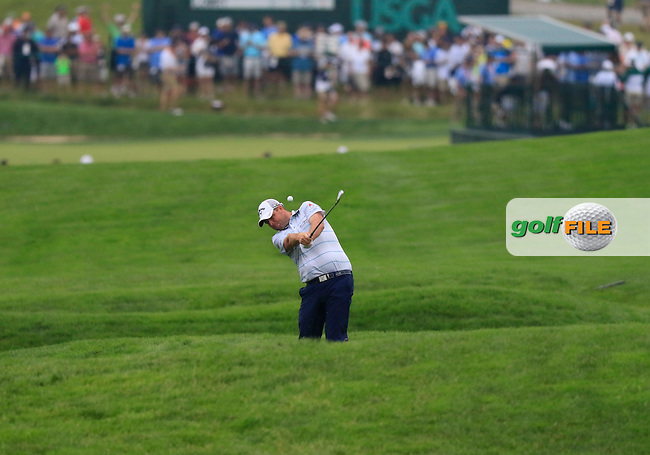 Marc Leishman (AUS) plays his 2nd shot on the 9th hole during Friday's Round 1 of the 2016 U.S. Open Championship held at Oakmont Country Club, Oakmont, Pittsburgh, Pennsylvania, United States of America. 17th June 2016.<br /> Picture: Eoin Clarke | Golffile<br /> <br /> <br /> All photos usage must carry mandatory copyright credit (&copy; Golffile | Eoin Clarke)