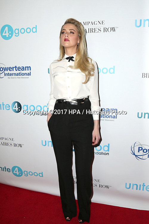 LOS ANGELES - APR 7:  Amber Heard at the 4th Annual unite4:humanity Gala at the Beverly Wilshire Hotel on April 7, 2017 in Beverly Hills, CA