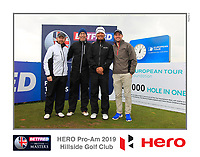 Ashun Wu (CHN) on the 10th tee during the Pro-Am of the Betfred British Masters 2019 at Hillside Golf Club, Southport, Lancashire, England. 08/05/19<br /> <br /> Picture: Thos Caffrey / Golffile<br /> <br /> All photos usage must carry mandatory copyright credit (© Golffile | Thos Caffrey)