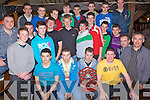 Champions - Members of The North Kerry U16 Championship winning Ballydonoghue team pictured at their Awards night held in The Thatch Bar Lisselton on Saturday night................................................................................................................................................................................................................................................................................................................................................................................................................................................................................................................................................................................................................ ........................