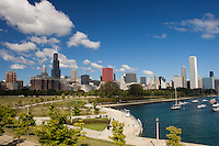 Chicago's Skyline and Monroe Harbor from the Museum Campus
