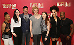 "Avoince Hoyles, Lena Hall, Bradley Dean, Andre Polec, Christina Bennington, Danielle Steers and Tyrick Wiltez Jones during Jim Steinman's ""Bat Out of Hell - The Musical"" - Open Rehearsal at New York City Center on July 30, 2019 in New York City."
