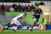 Matt Toomua of Leicester Tigers goes on the attack. European Rugby Champions Cup match, between Leicester Tigers and Castres Olympique on October 21, 2017 at Welford Road in Leicester, England. Photo by: Patrick Khachfe / JMP