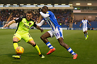 Pierce Sweeney of Exeter City reads Frank Nouble of Colchester United intention and defends during Colchester United vs Exeter City, Sky Bet EFL League 2 Football at the JobServe Community Stadium on 24th November 2018