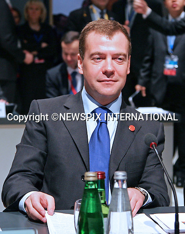 "PRESIDENT DMITRY MEDVEDEV.G20 SUMMIT, Excel Centre, London_02/04/2009.Photo: Newspix International..**ALL FEES PAYABLE TO: ""NEWSPIX INTERNATIONAL""**..PHOTO CREDIT MANDATORY!!: NEWSPIX INTERNATIONAL(Failure to credit will incur a surcharge of 100% of reproduction fees)..IMMEDIATE CONFIRMATION OF USAGE REQUIRED:.Newspix International, 31 Chinnery Hill, Bishop's Stortford, ENGLAND CM23 3PS.Tel:+441279 324672  ; Fax: +441279656877.Mobile:  0777568 1153.e-mail: info@newspixinternational.co.uk"