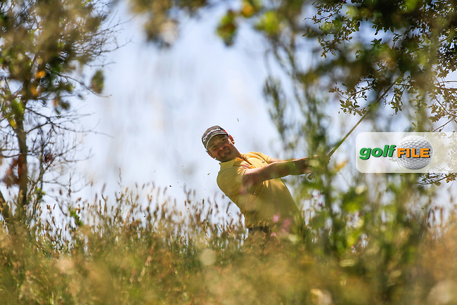 Carlos Del Moral (ESP) in the rough on the 9th during Round 3 of the Open de Espana  in Club de Golf el Prat, Barcelona on Saturday 16th May 2015.<br /> Picture:  Thos Caffrey / www.golffile.ie