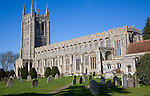 "Originally completed in 1484, Holy Trinity Church is the one of the richest ""wool churches"" in East Anglia and is renowned for its flushwork Suffolk, England"