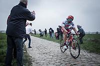 Marco Haller (AUT/Katusha Alpecin) chasing <br /> <br /> 117th Paris-Roubaix (1.UWT)<br /> 1 Day Race: Compiègne-Roubaix (257km)<br /> <br /> ©kramon