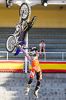 Australian Fmx rider Clinton Moore during qualifying Red Bull X-Fighters 2016 at Madrid. 22,06,2016. (ALTERPHOTOS/Rodrigo Jimenez)