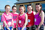 Roisin Farrell, Eimear Ní Shuuilleabhain, Rebecca McHugh, Ciara O'Sullivan and Louise Kissane who competed in the Kilgobnet 5k in aid of Kerry Parents and Friends on Saturday