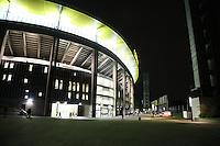 Leeres Vorfeld an der Commerzbank Arena rund 90 Minuten vor dem Spiel, nur knapp über 6000 Karten zum DFB-Pokal Heimspiel wurden verkauft - 25.10.2016: Eintracht Frankfurt vs. FC Ingolstadt 04, 2. Hauptrunde DFB-Pokal, Commerzbank Arena